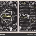 Restaurant Chalkboard Menu Design Vector Hand Drawn Illustration Stock Vector C Siberianart 180875564