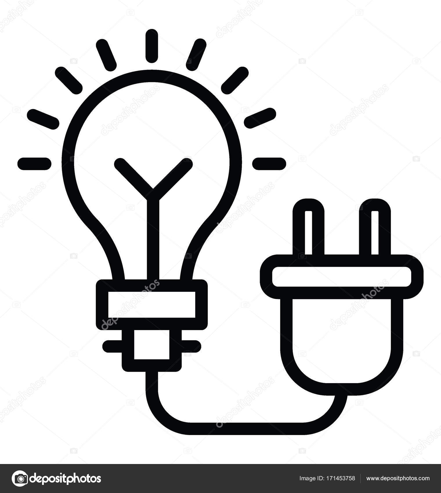 Icono De Vector De Electricidad