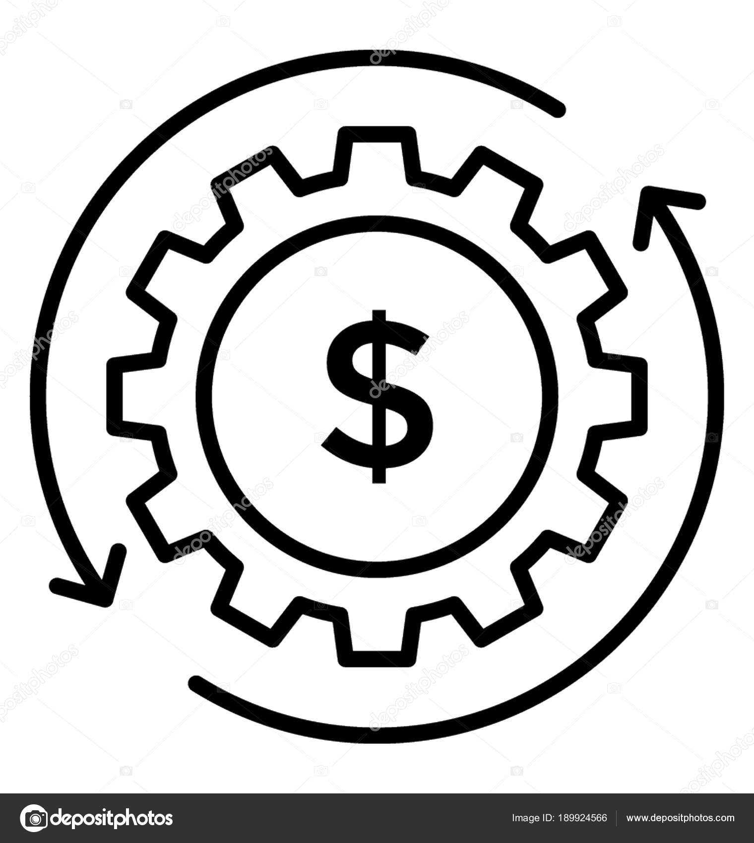 Line Icon Revenue Engine Revenue Generation