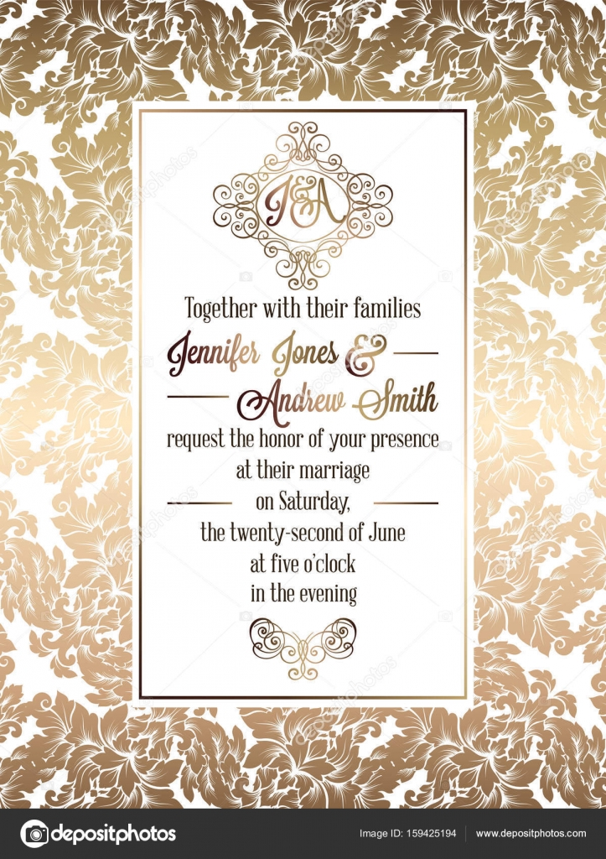 https depositphotos com 159425194 stock illustration vintage baroque style wedding invitation html