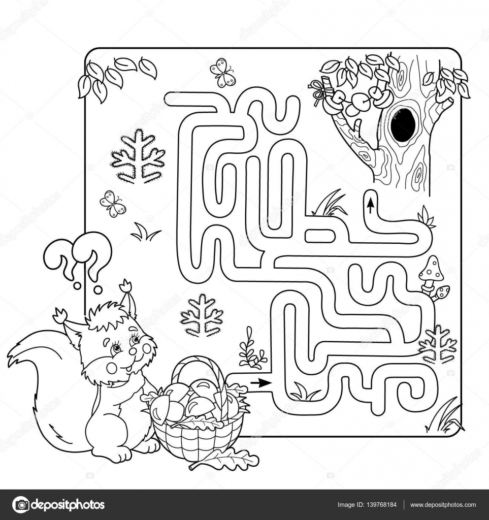 Cartoon Vector Illustration Of Education Maze Or Labyrinth
