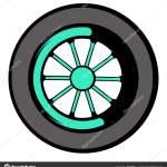 Wheel Cartoon Car Wheel Icon Icon Cartoon Stock Vector C Juliarstudio 145389993