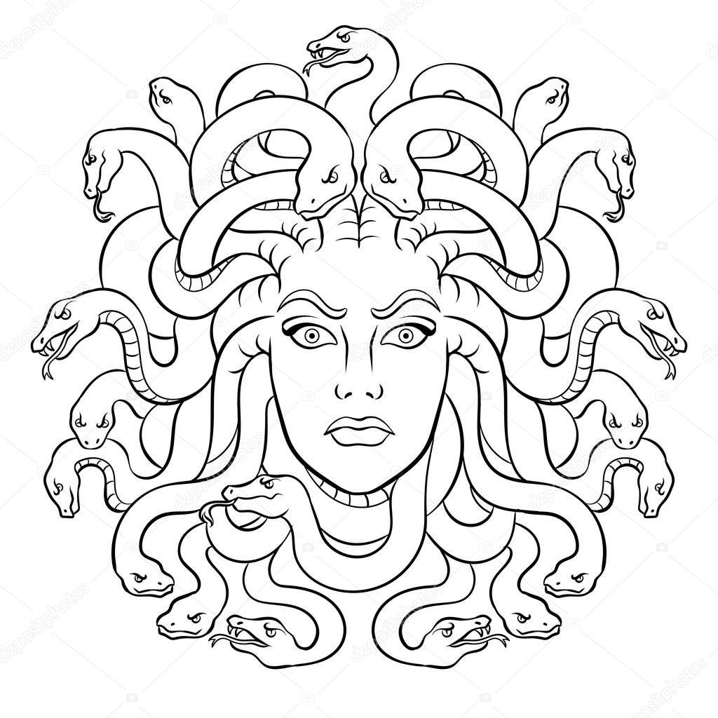 Dibujos Mujer Medusa Para Colorear