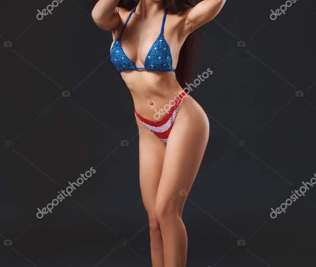 Sexy Young Woman In Erotic Fetish Wear Dancing Striptease In Nightclub Nude Sexy Woman In