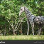 Horse Sculptures Made From Driftwood Wooden Horse Statue Made Of Driftwood Stock Photo C Bonnontawat 151498620