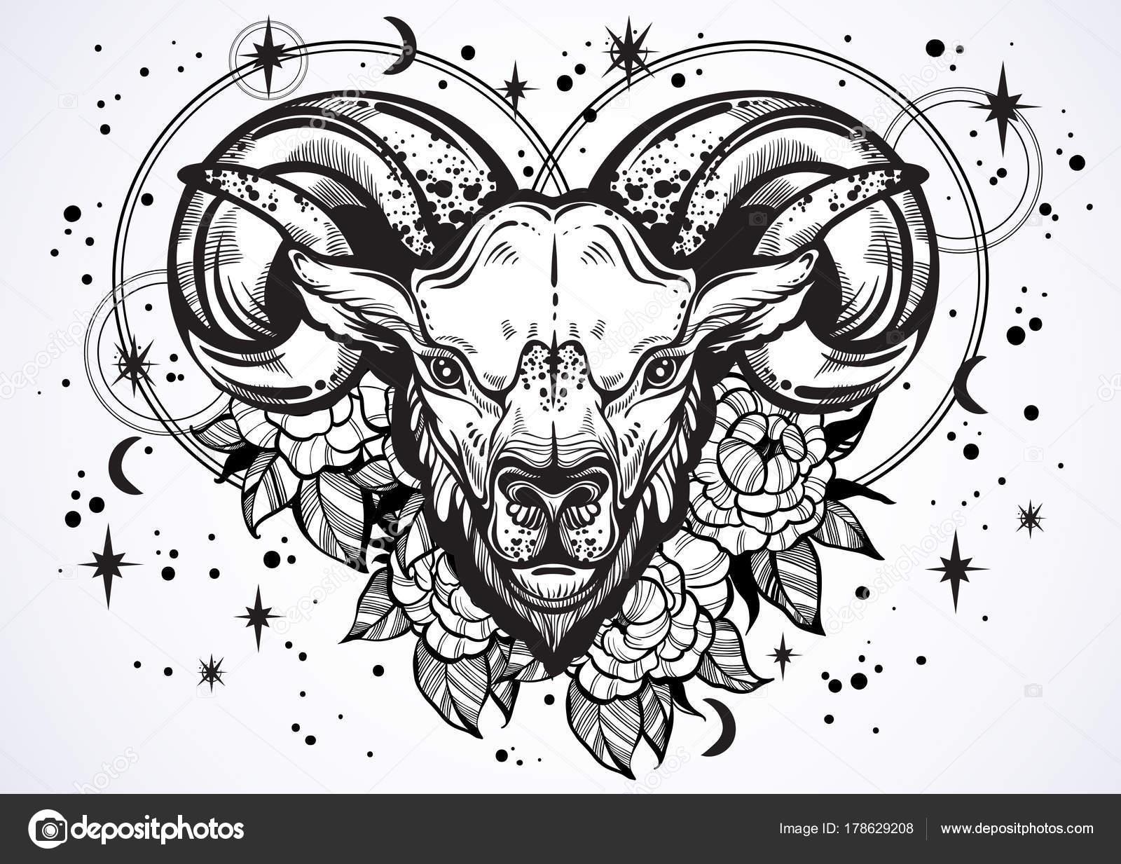 Aries Ram Tattoo Designs