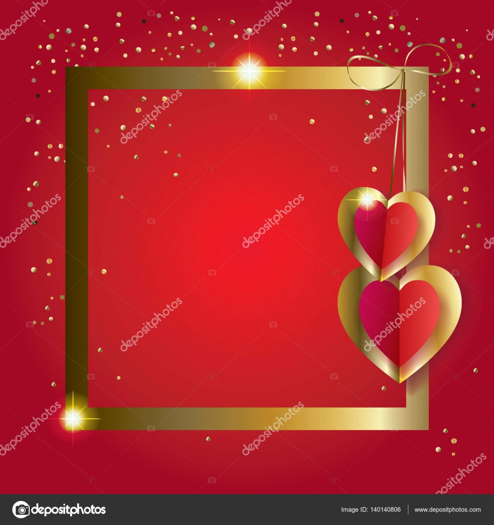 Frame Valentines Day Greeting Card Border Layout Vector