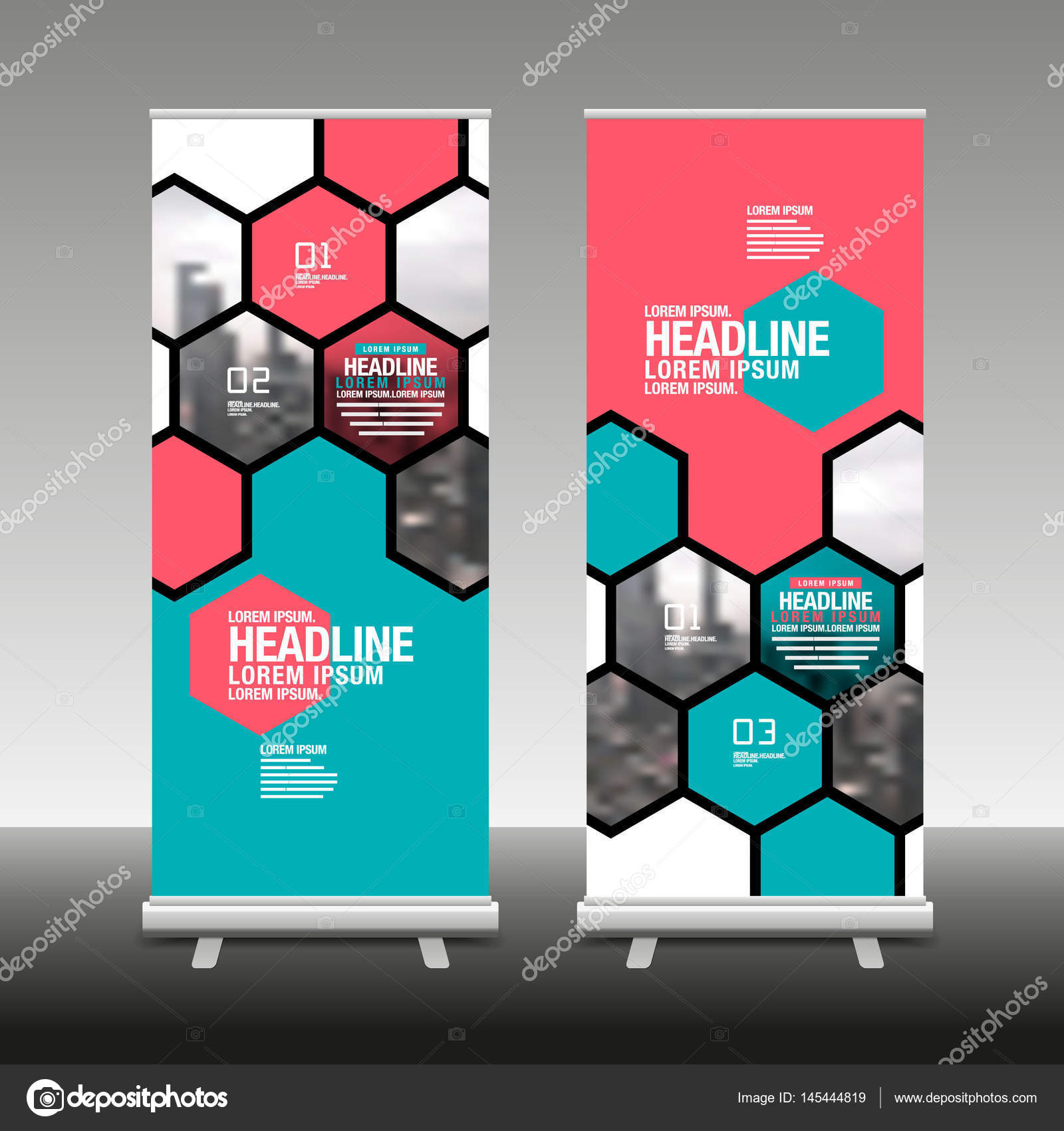 Layout Design Template Cover Book Colorful Banner Roll Up