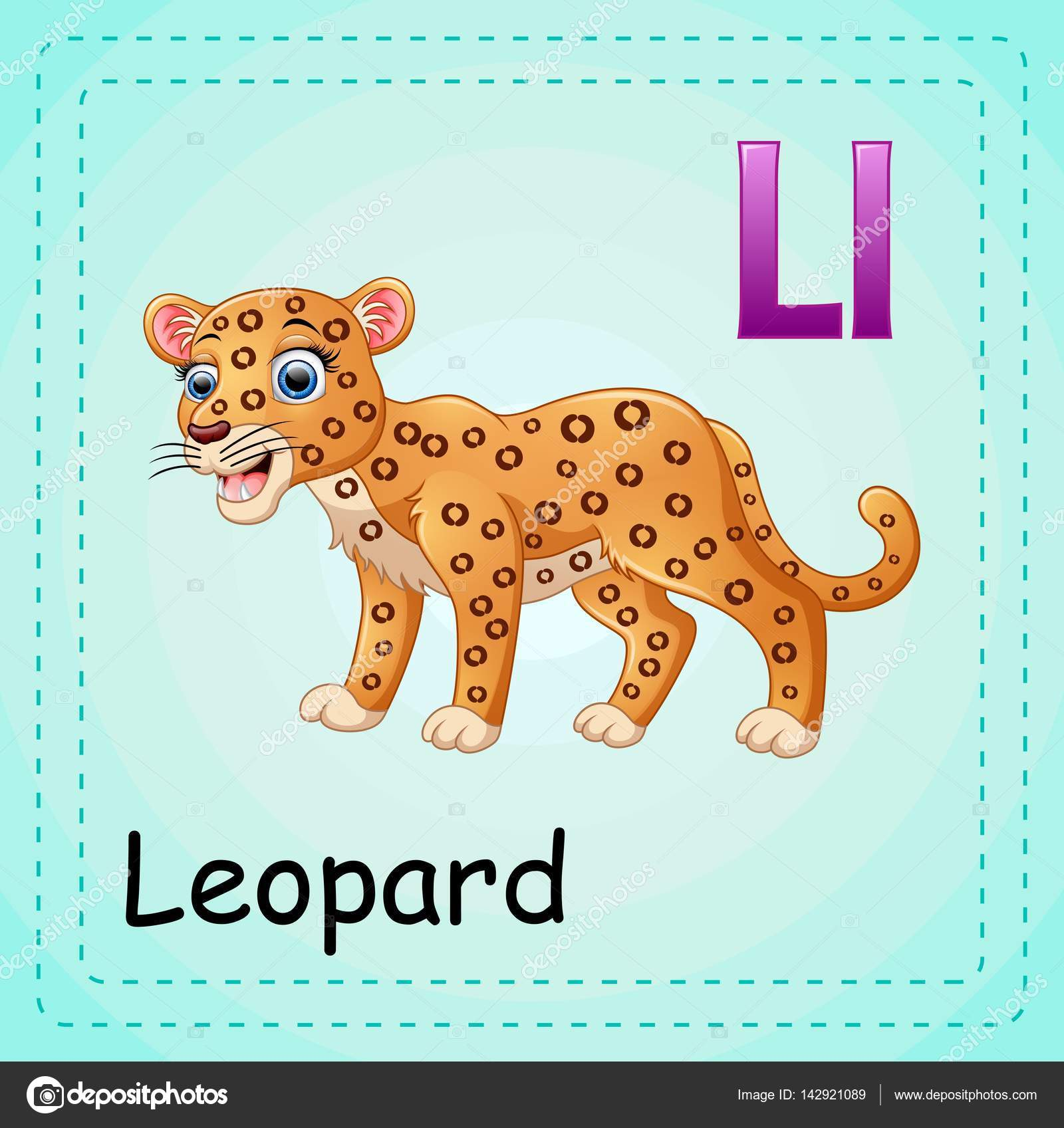 Animals Alphabet L Is For Leopard
