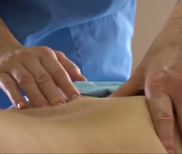 Body Massage Female Hands Close Up Slow Motion Stock Video