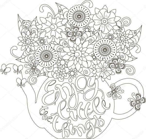 teapot coloring page # 11