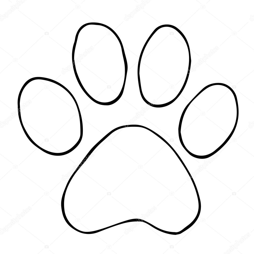 Trail Cats Abstract Animal Footprint Vector Background