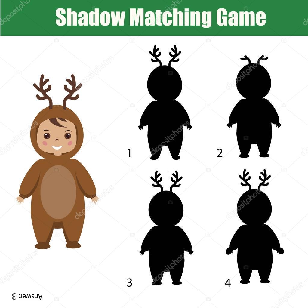 Shadow Matching Game Christmas Theme Kids Activity