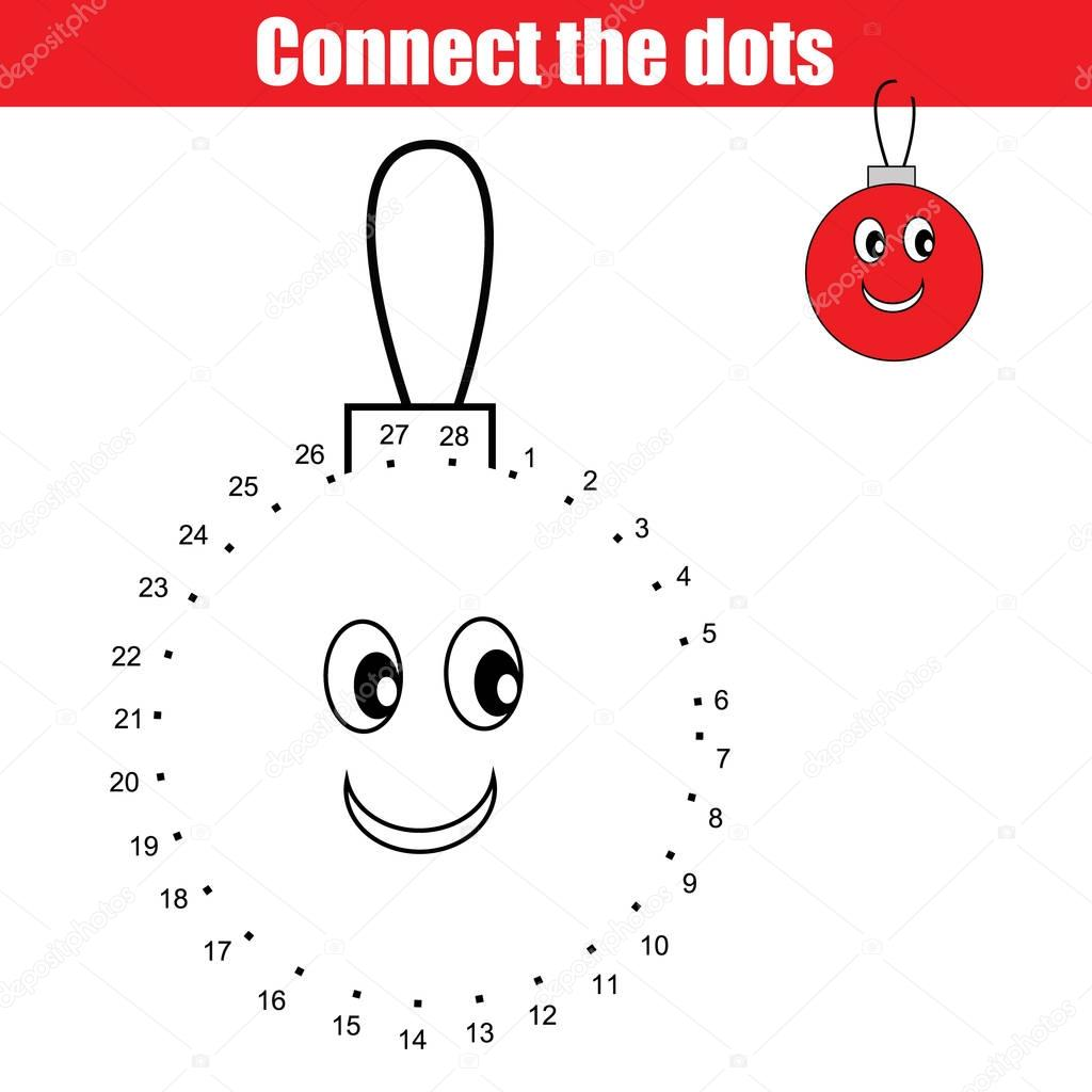 Winter Holiday Connect The Dots