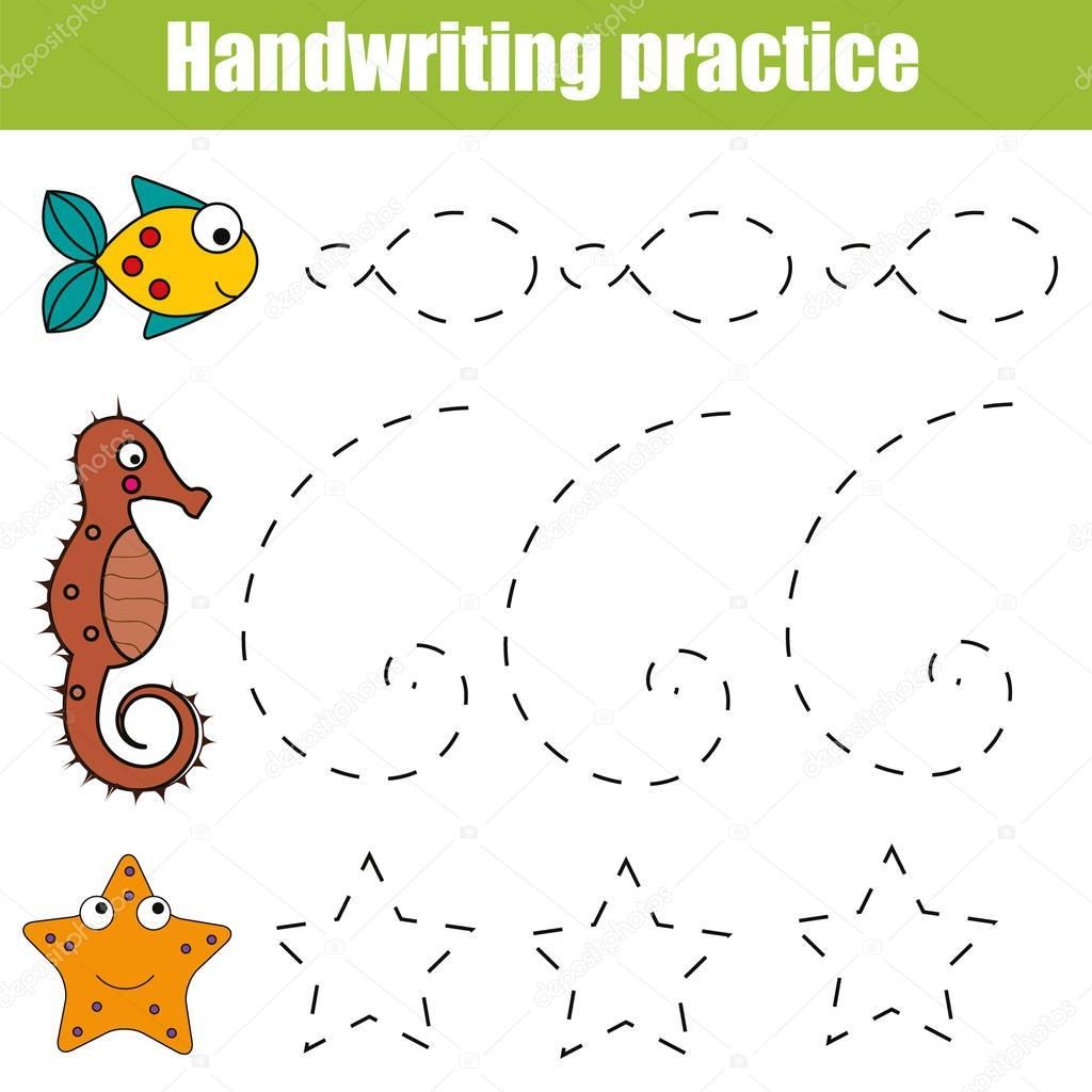 Handschrift Praxis Blatt Padagogische Kinder Spiel