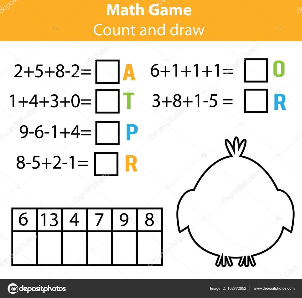 Worter Puzzle Kinder Lernspiel Mit Mathematik Gleichungen