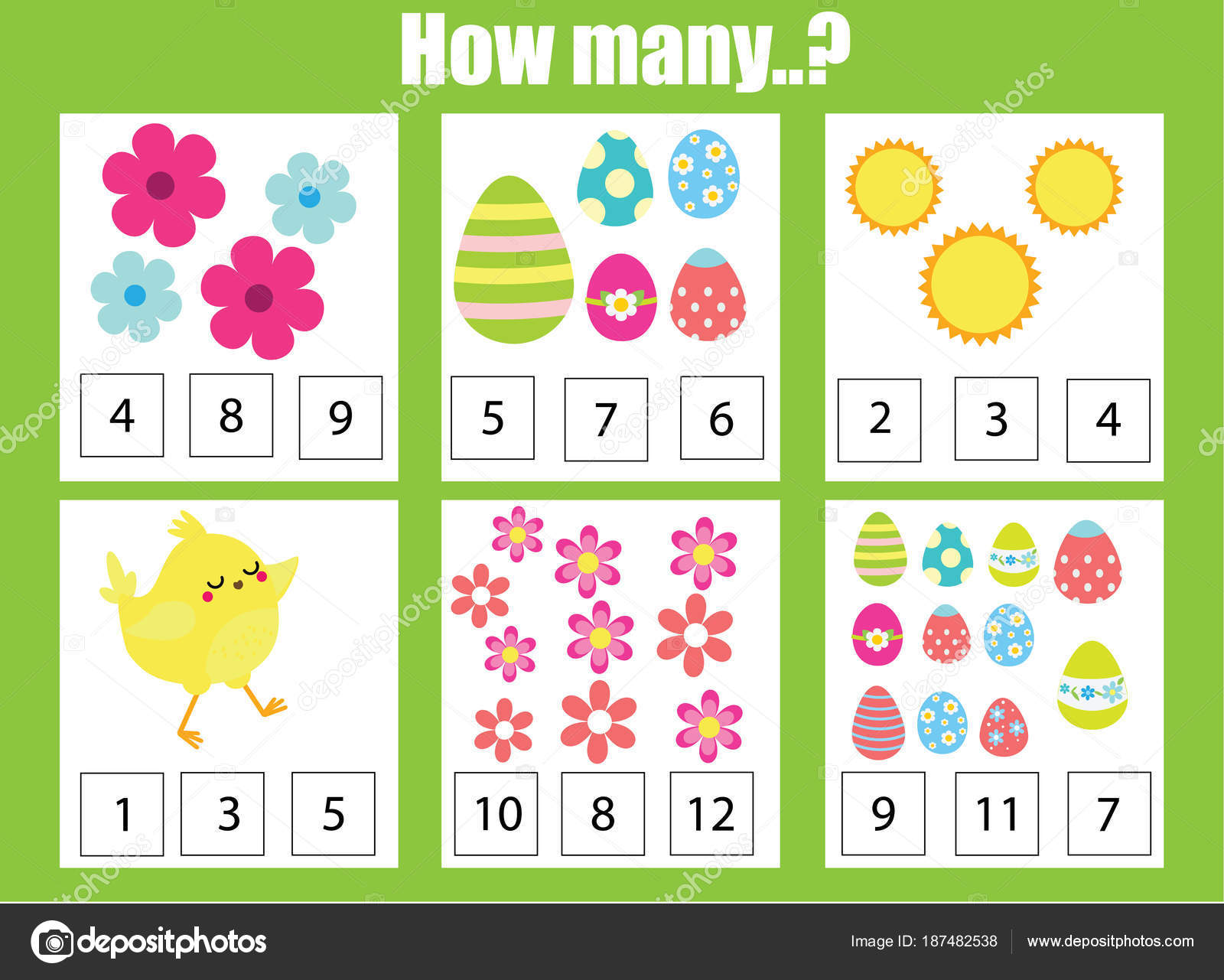 Counting Educational Children Game Math Kids Activity