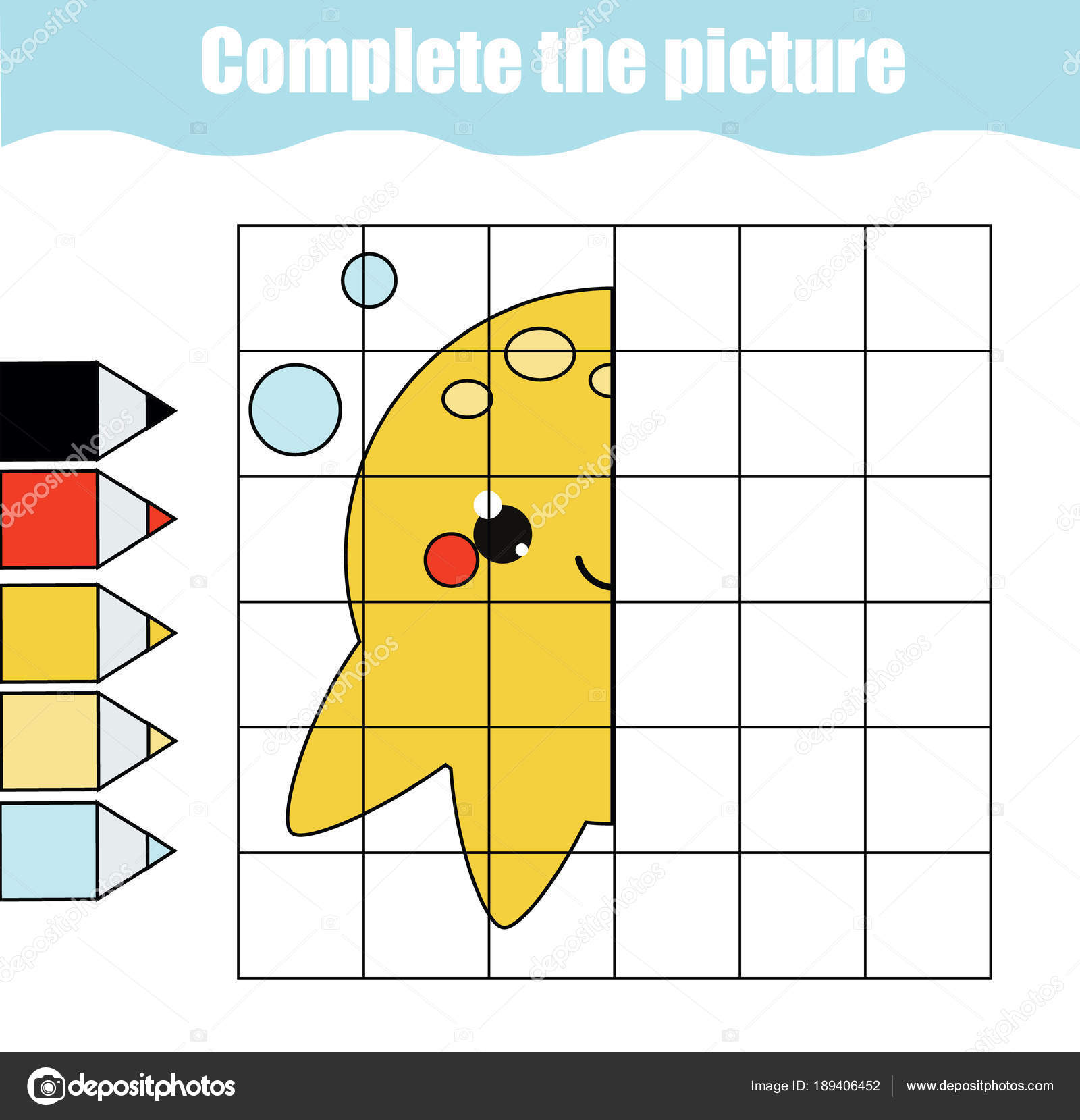 Grid Copy Drawing Activity Educational Children Game