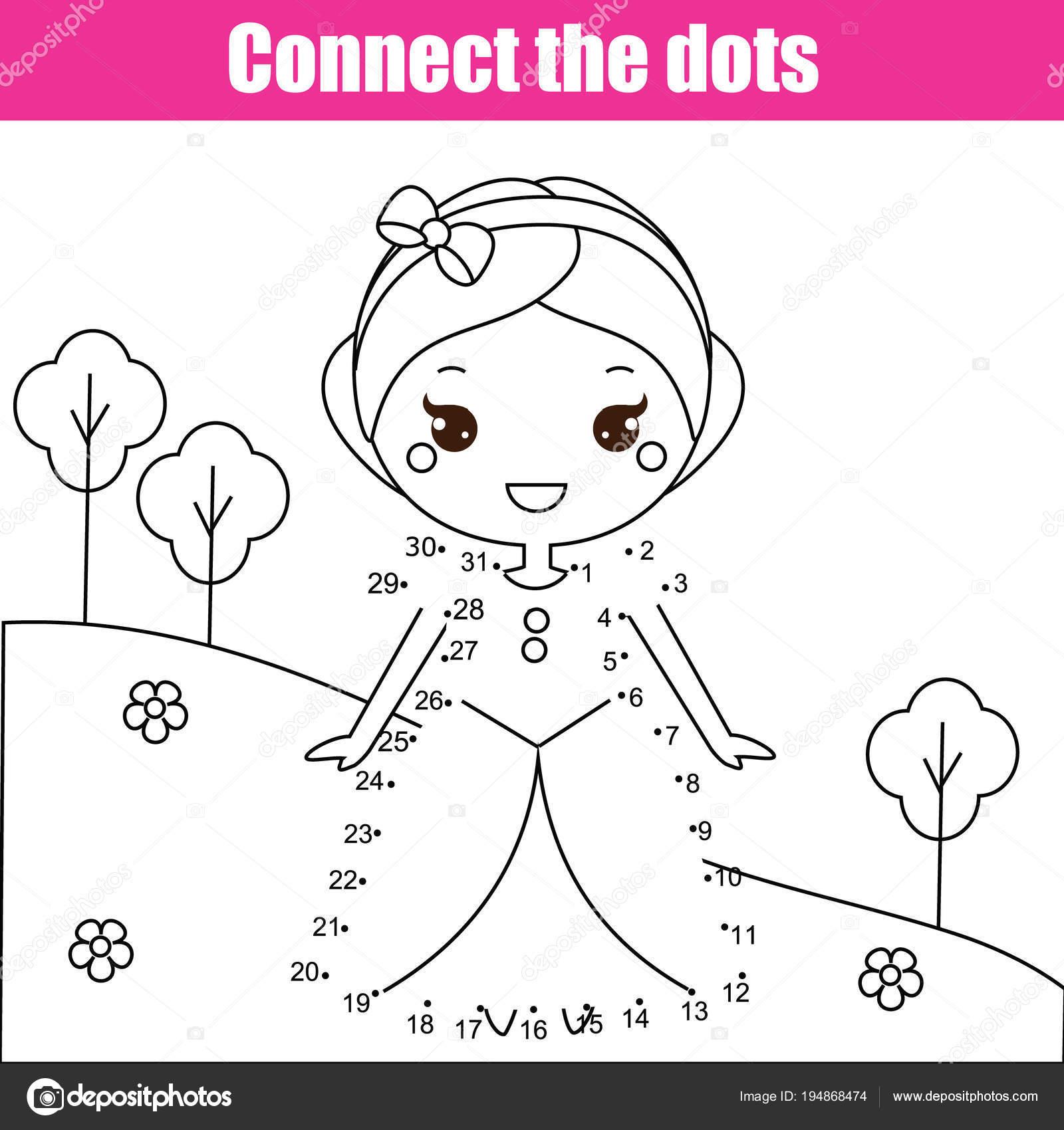 Ligue Os Pontos Por Jogo Educacional De Criancas De