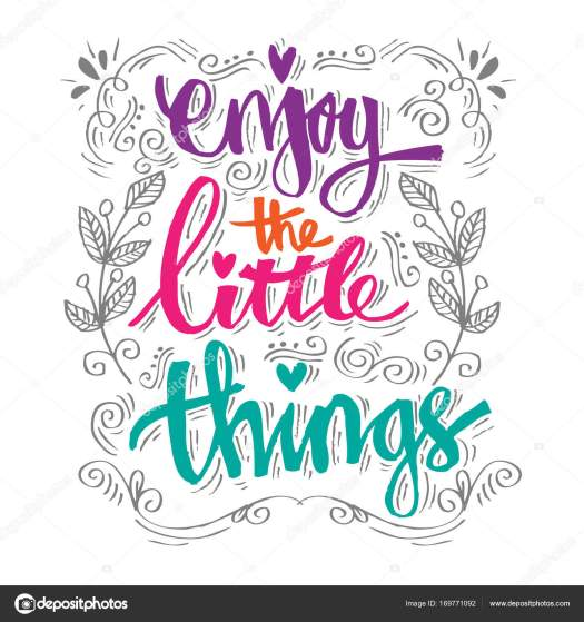 Enjoy the little things. quotes. — Stock Photo © Handini ...