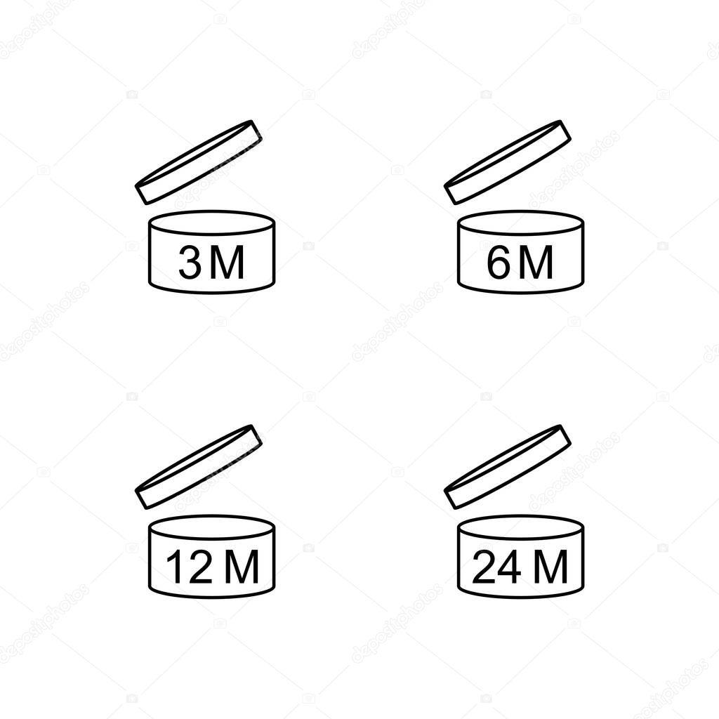 Simbolo Pao Periodo Despues De Abrir 3 6 12 24 Meses