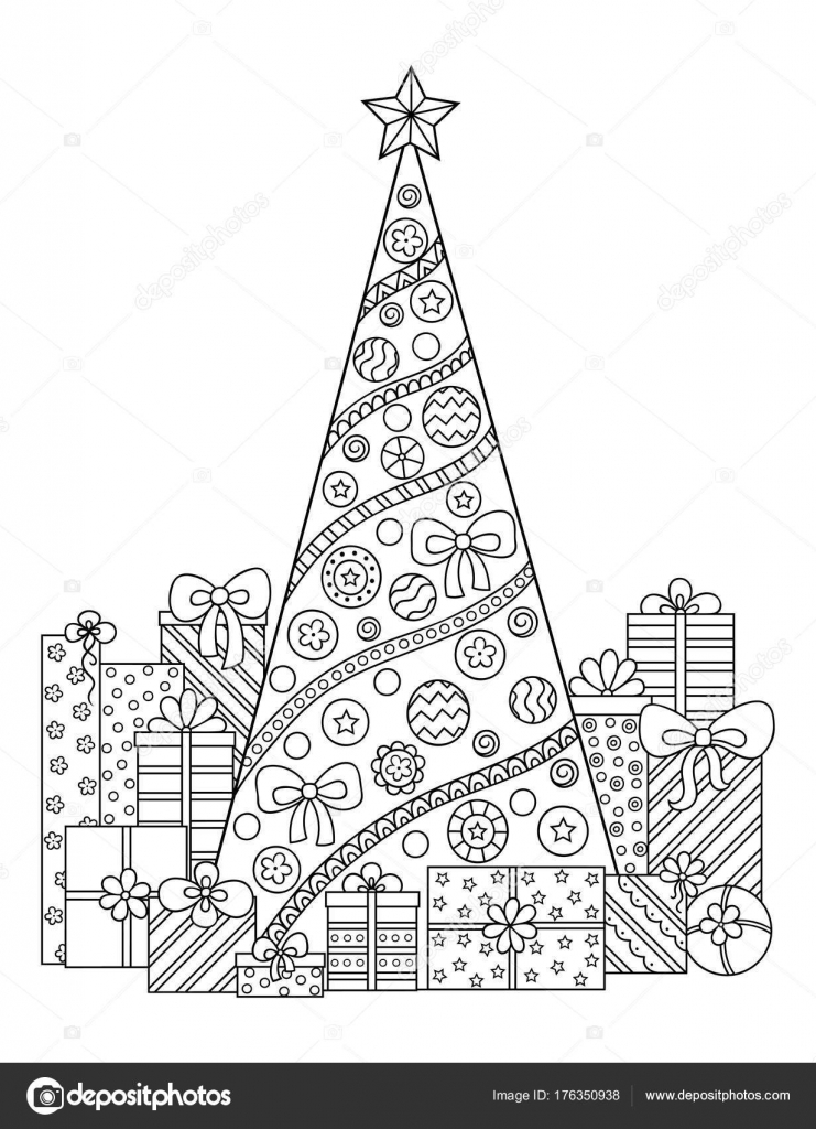 Drawings Black And White Christmas