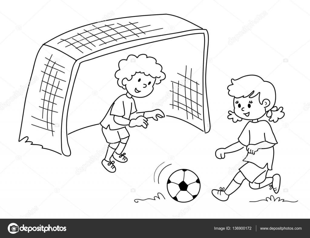 Dibujos De Ninas Jugando Futbol Dibujos Para Colorear
