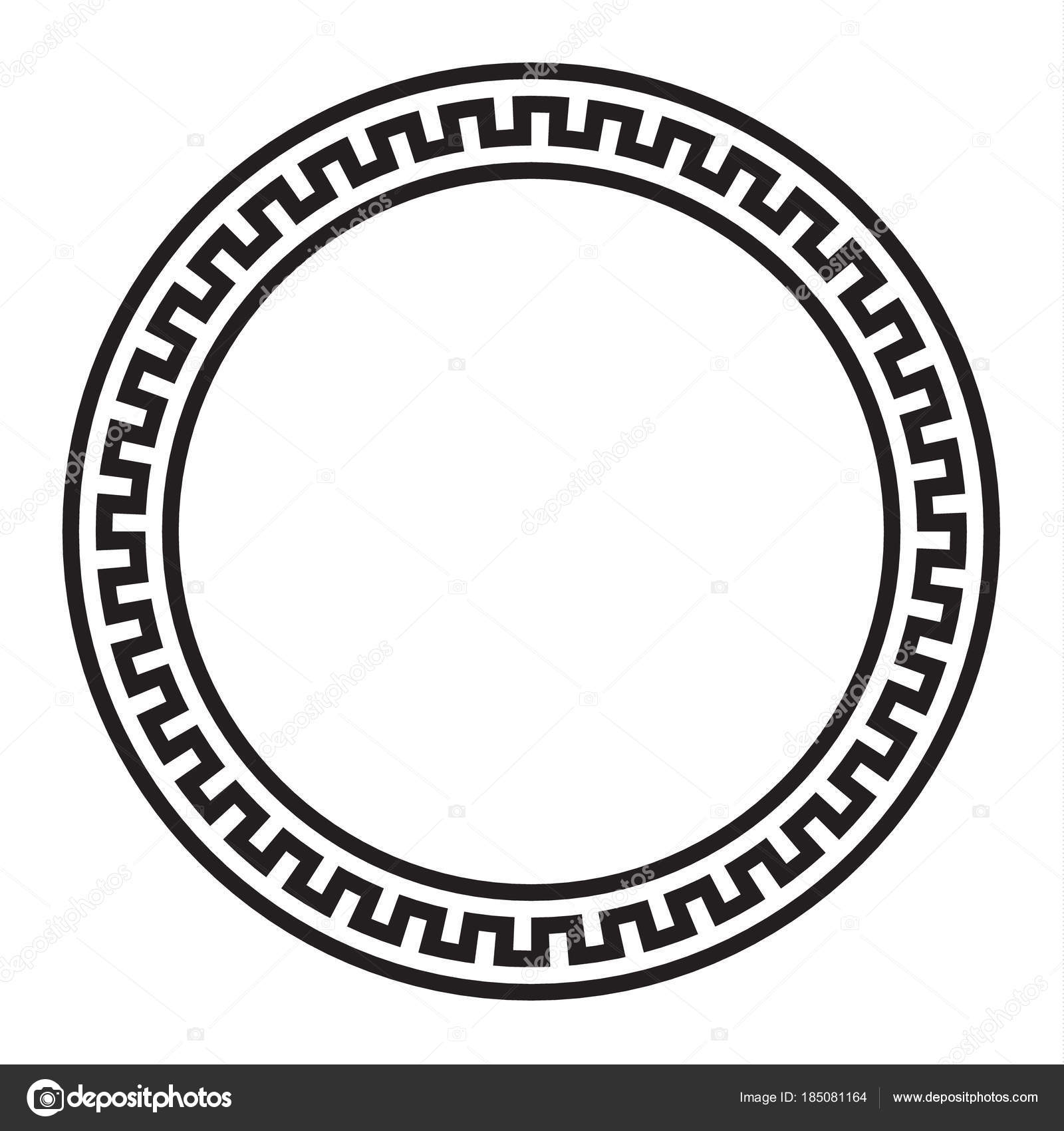 Circular Vector Greek Ornament
