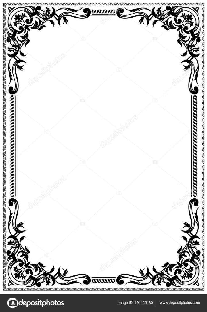 Frame Border Design Black And White | Viewframes.org
