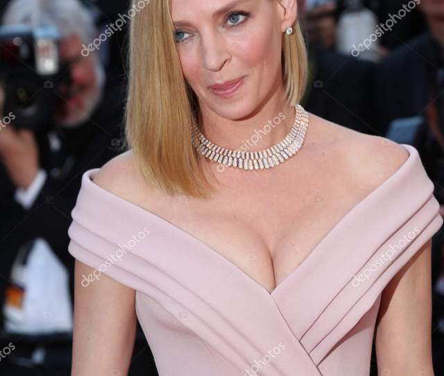 Actress Uma Thurman Attends The Ismaels Ghosts Screening And Opening Gala During The 70th Annual Cannes Film Festival At Palais Des Festivals On May 17