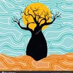 Boab Baobab Tree Vector Painting Aboriginal Dot Art Vector Background Vector Image By C Rashmisingh Vector Stock 192119588