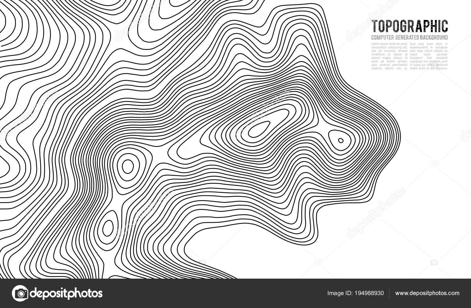 Topographic Map Contour Background Topo Map With