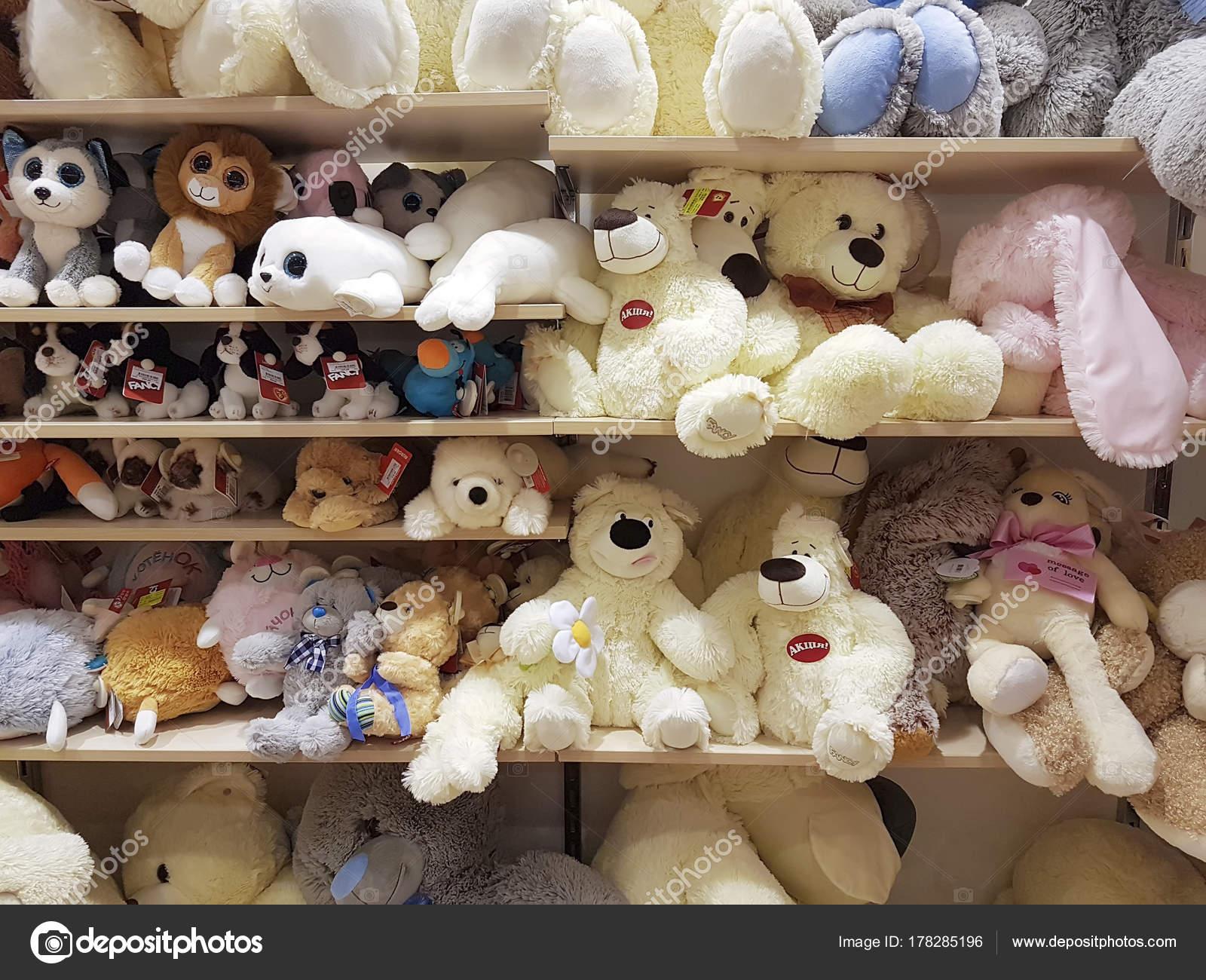 December Ukraine Kiev Teddy Bear Shelf Store Stock