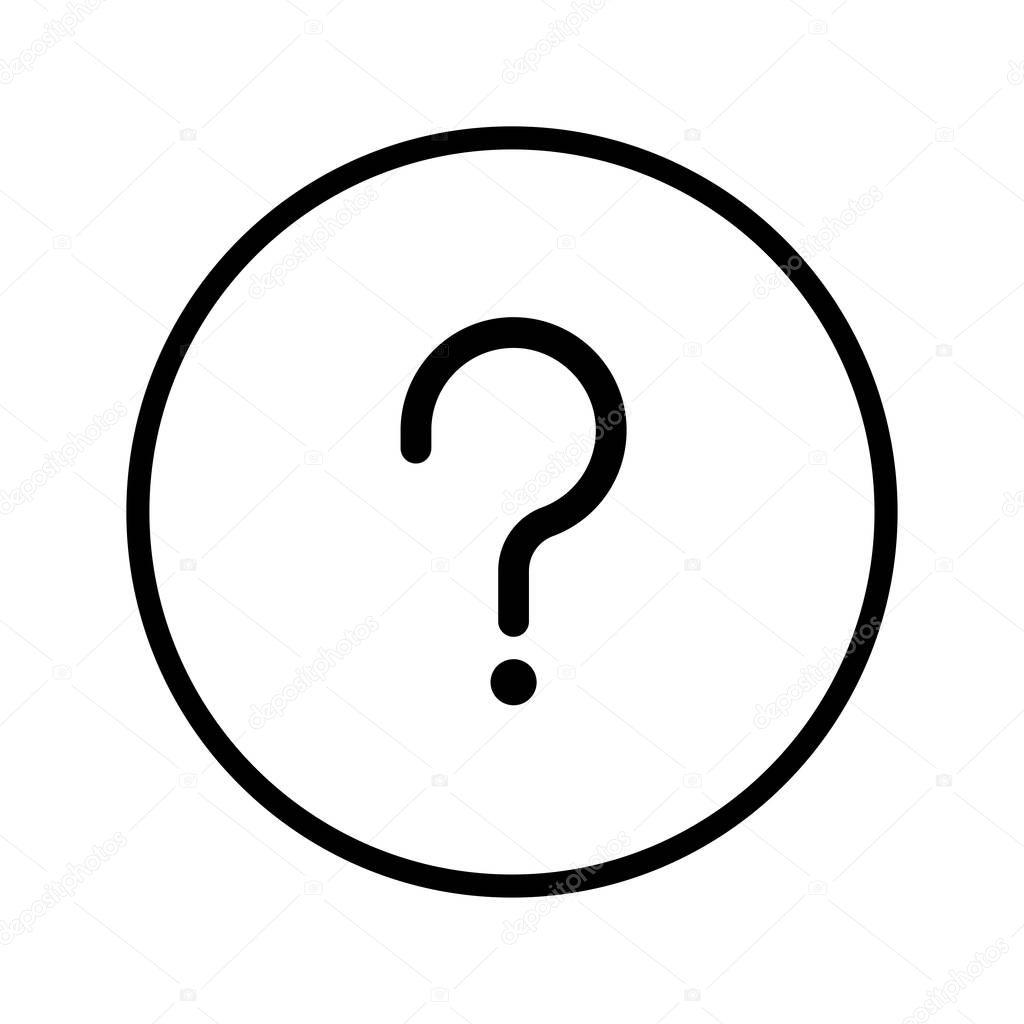 Sg Vecteur De L Icone De La Question En Ligne Circle