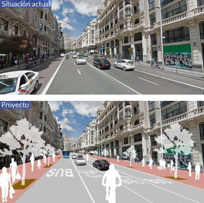 Recreación del futuro de la Gran Vía / Ayuntamiento de Madrid