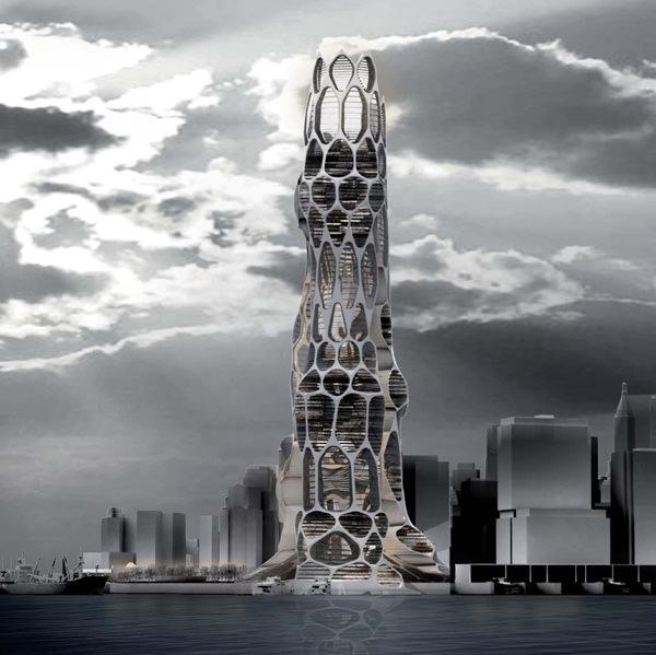 Rascacielos futurista