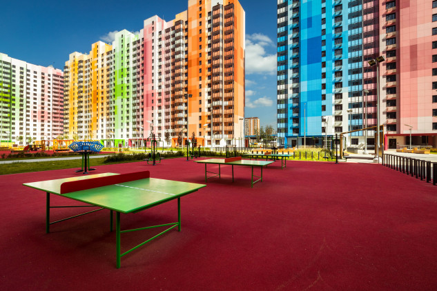 Con mesas de ping pong