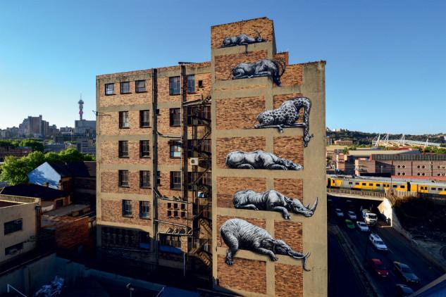 Animales de la sabana en Johannesburgo (Sudáfrica) / © ROA