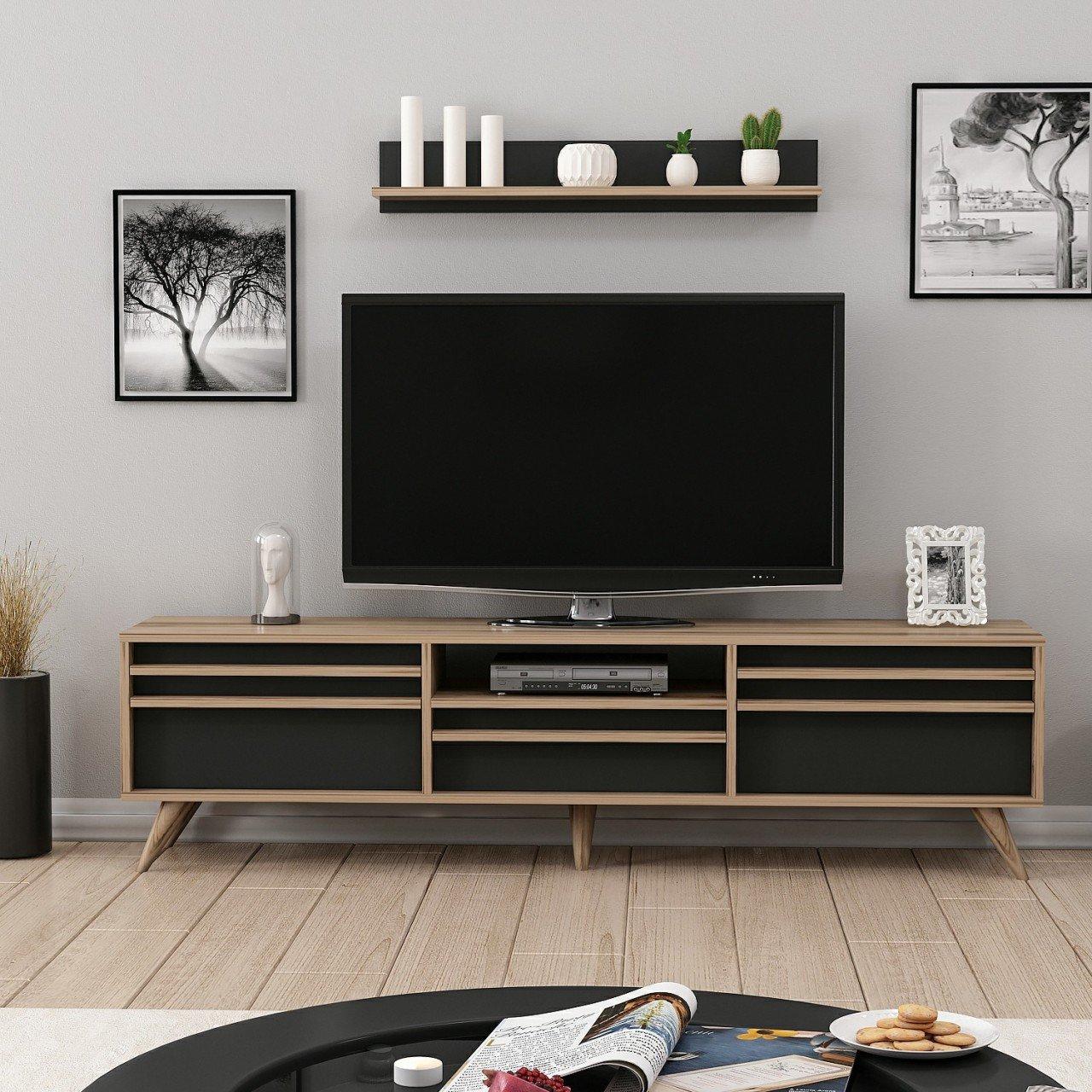 minar hira modern tv unitesi tv sehpasi ciragan siyah