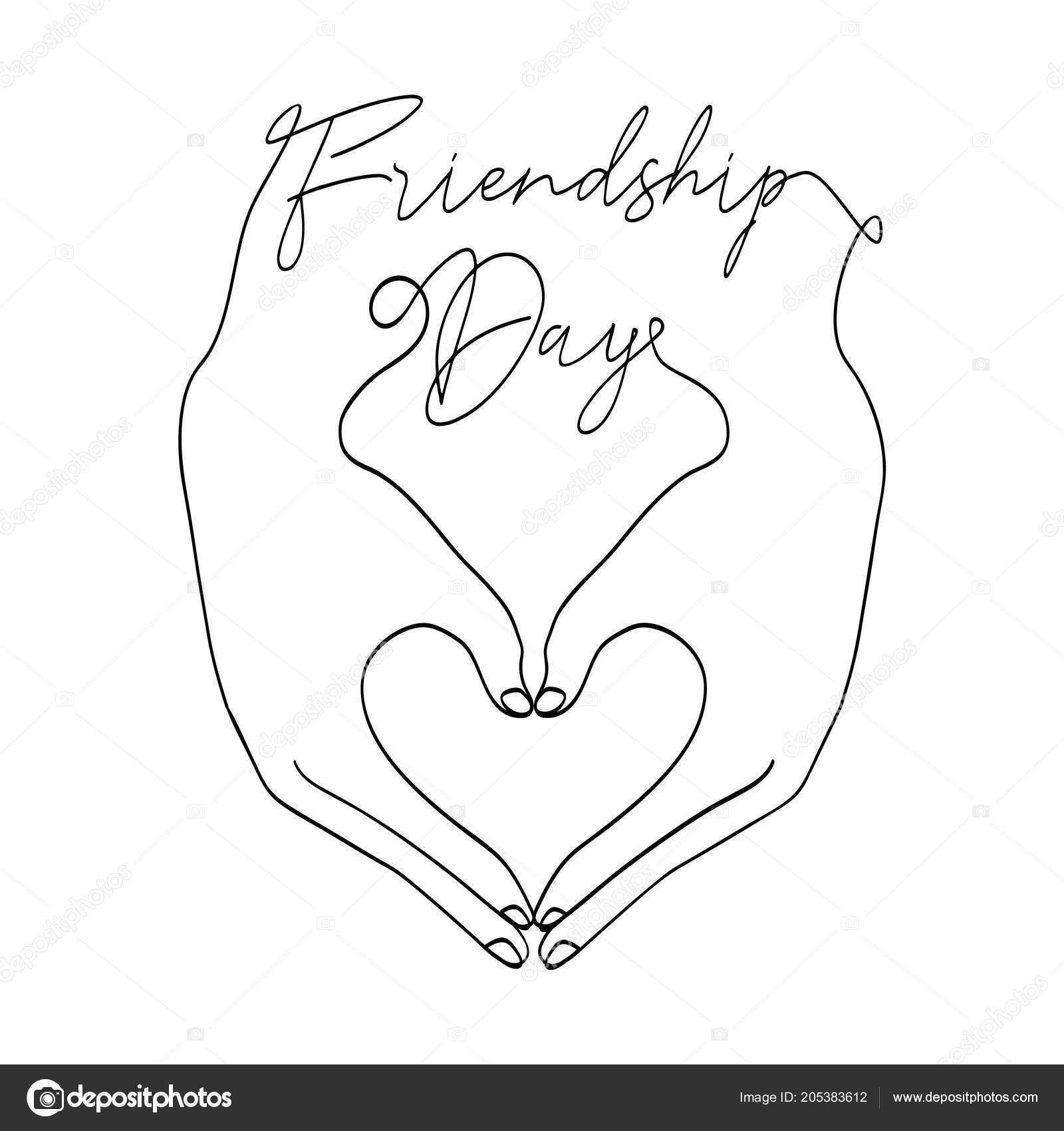 Happy Friendship Day Greeting Card Illustration Friends