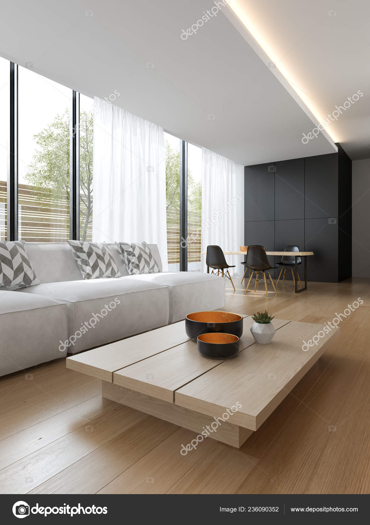 interior of modern living room with sofa and furniture 3 d rendering photo by