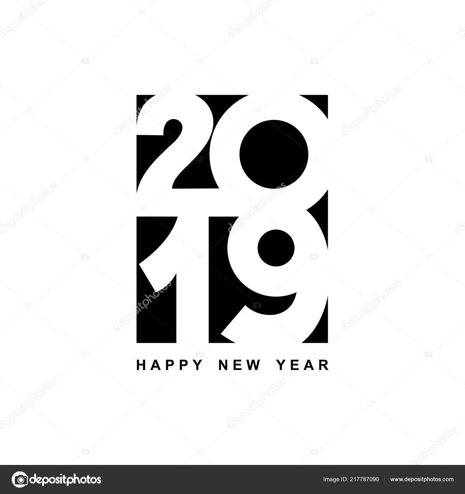 Gelukkig Nieuwjaar Tekstontwerp Cover Van Zakelijke
