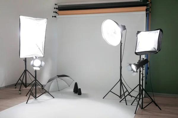 glowing lighting equipment in modern