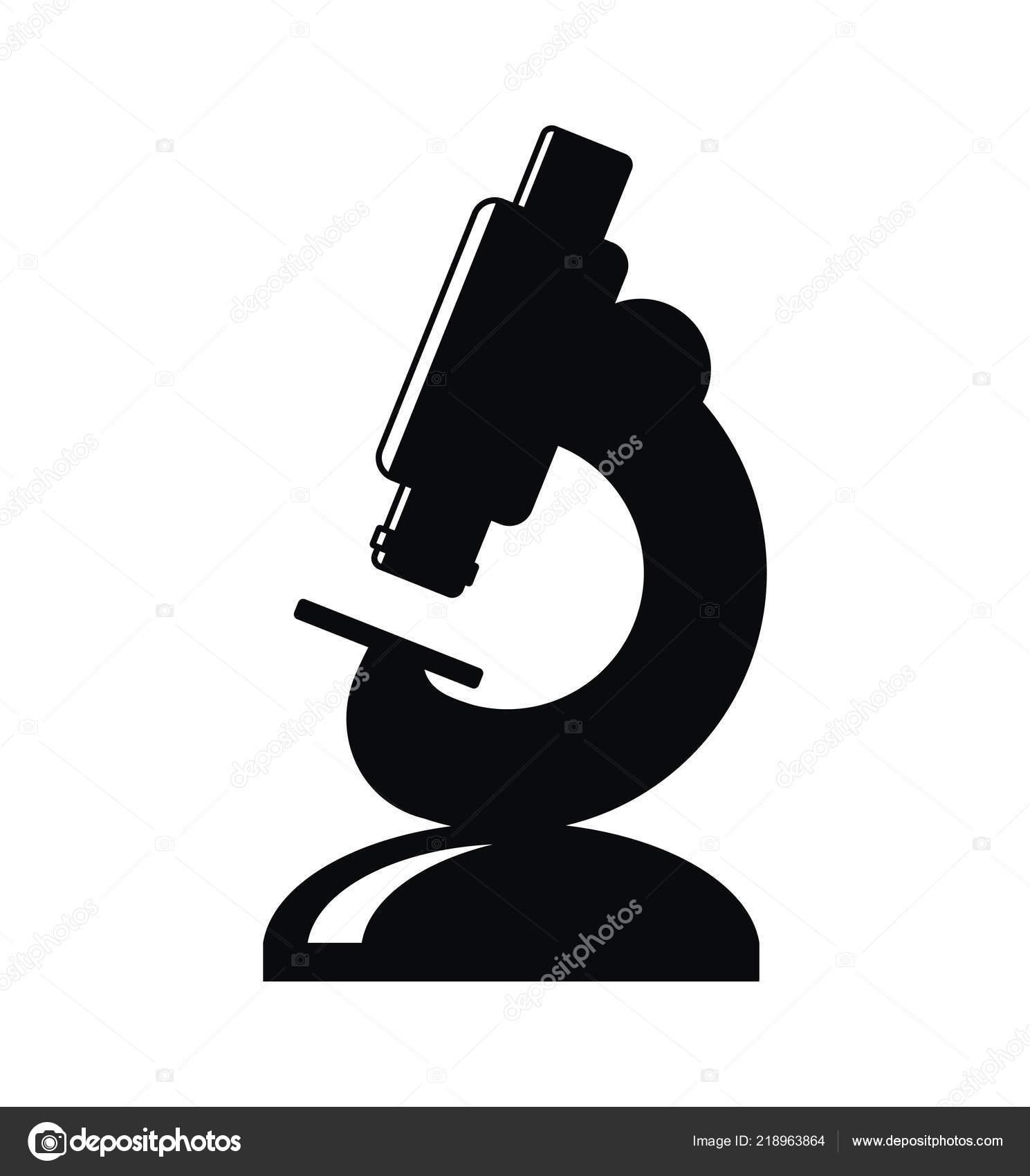 Vector Laboratory Microscope Icon Isolated White