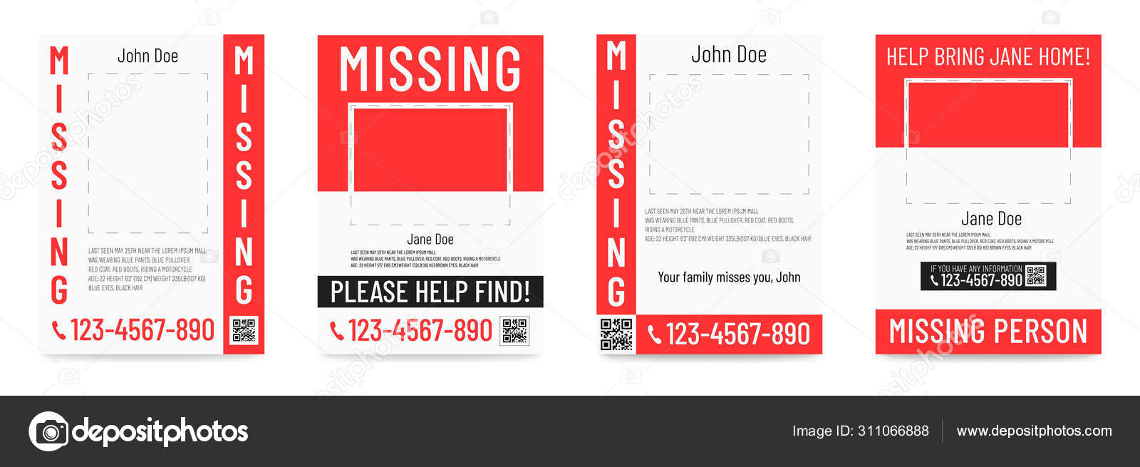missing person poster help to find placard template vector image by c arseniuk oleksii vector stock 311066888