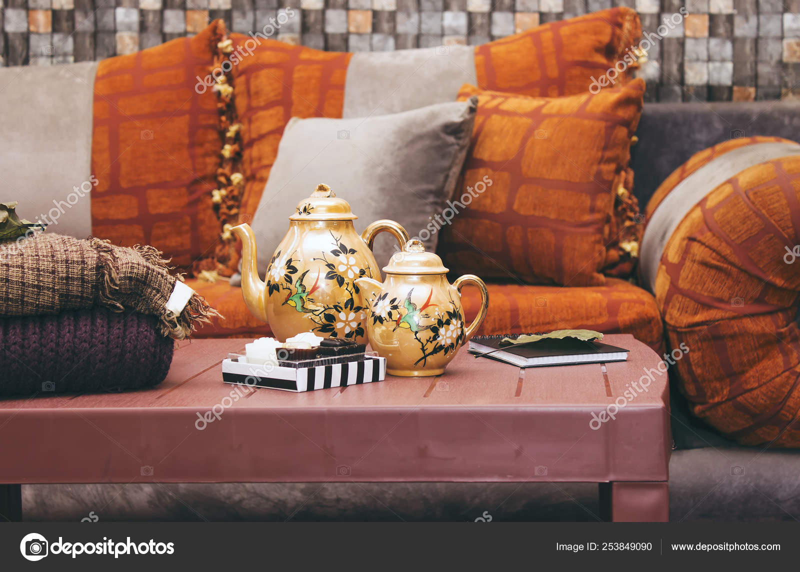 Moroccan Style Living Room Furniture Interior Oriental
