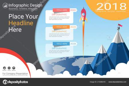 Business Infographics Template Milestone Timeline Road Map Process     Business infographics template  Milestone timeline or Road map with Process  flowchart  Strategic plan to define company values  Scheduling in project