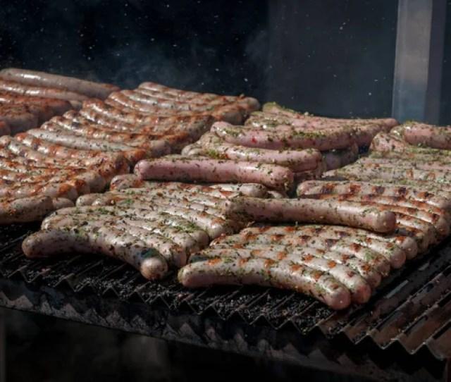 Verse Frankfurter Worstjes Gekookt Barbecue Grill