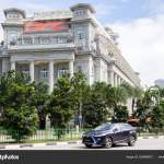 Car Driving Past The Fullerton Hotel In Singapore Taken From Co Stock Editorial Photo C Khellon 256496872