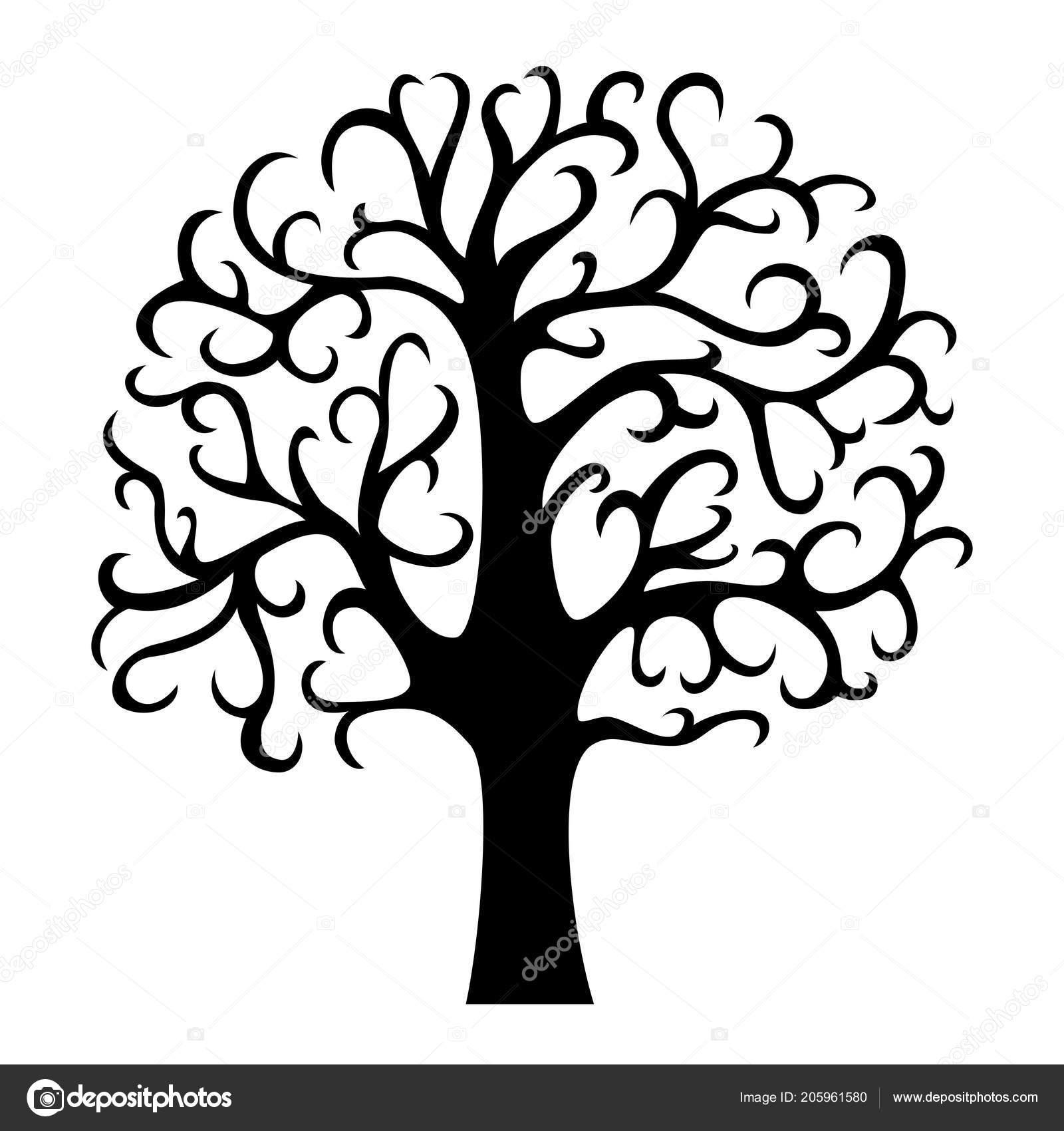 Stammbaum Silhouette Lebensbaum Vektor Illustration